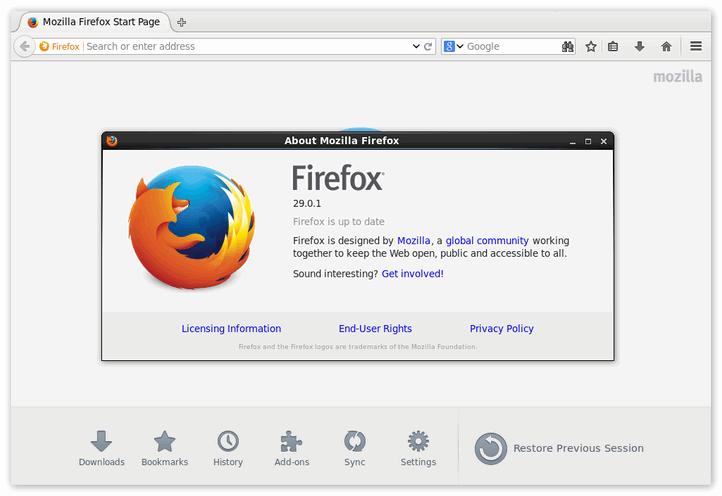 Firefox для Linux