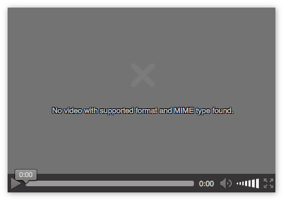 Ошибка чтения формата видео MIME в Firefox