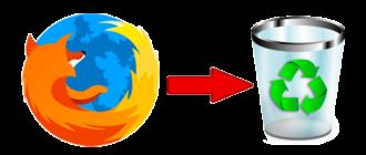 Удаление браузера Mozilla Firefox