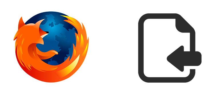 Как импортировать в Mozilla Firefox