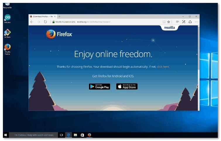 Мозила для Windows 10
