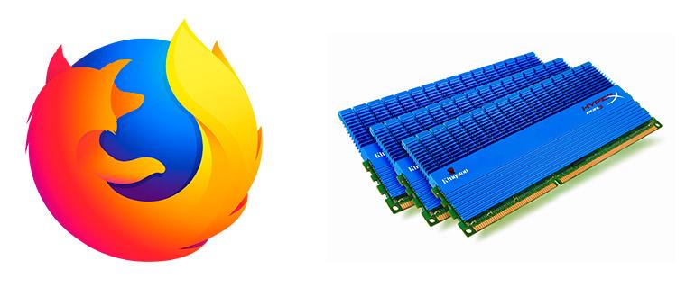 Mozilla Firefox использует много оперативной памяти