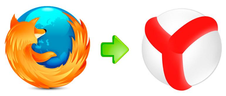Перенести закладки из Mozilla Firefox в «Яндекс.Браузер»