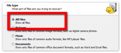 Выбрать все файлы